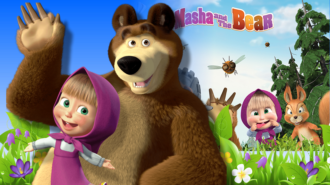 masha and the bear 6 in 1 mini games for kids free app game